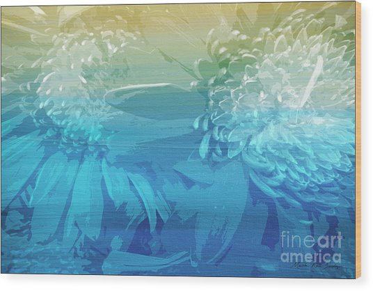 Wood Print featuring the painting Abstract Floral Dl212016 by Mas Art Studio