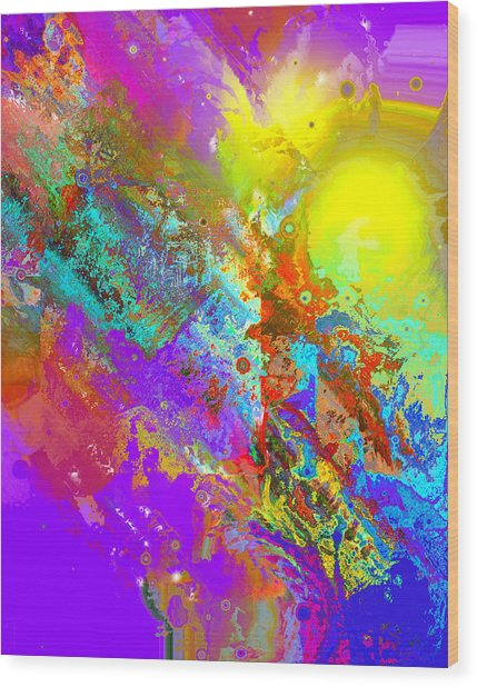 Abstract Eight-chroma Wood Print by Patricia Motley