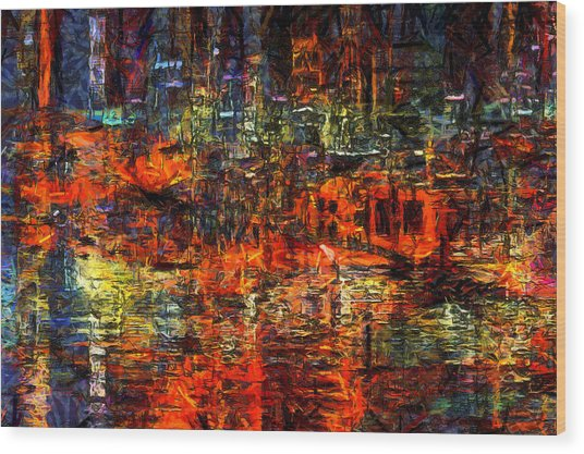 Abstract Evening Wood Print