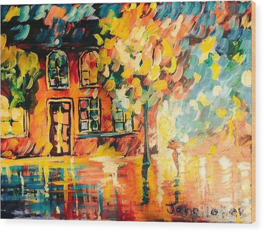 Wood Print featuring the painting Abstract Expressionism by Janelle Dey