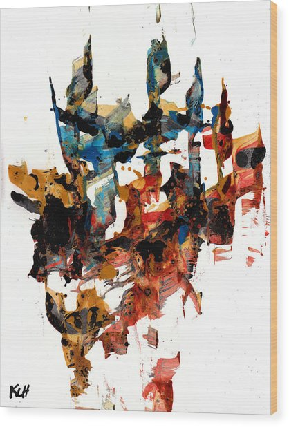 Abstract Expressionism Painting Series 750.102910 Wood Print