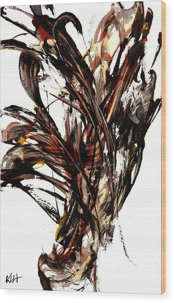 Abstract Expressionism Series 58.121210 Wood Print