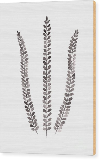 Abstract Fern Watercolor Art Print Painting Wood Print