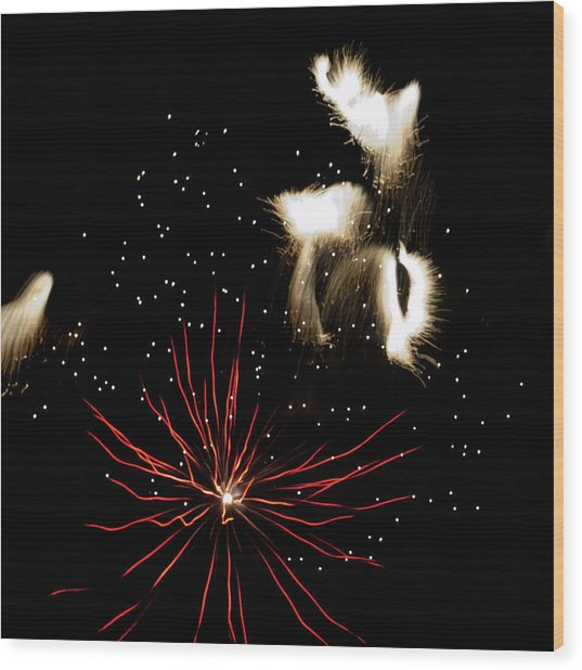 Abstract Fireworks IIi Wood Print