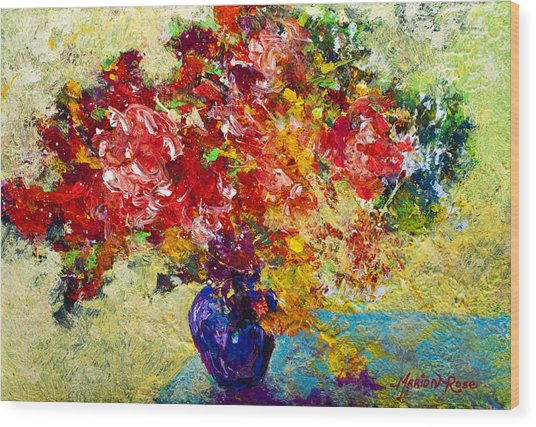 Abstract Floral 1 Wood Print