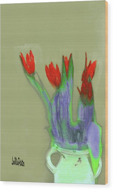 Abstract Floral Art 346 Wood Print