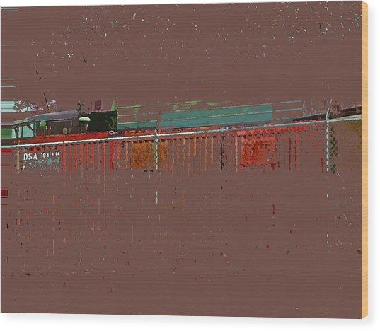 Abstract For Viv Wood Print