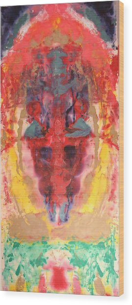 Abstract Ganesha Wood Print