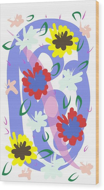 Abstract Garden #1 Wood Print