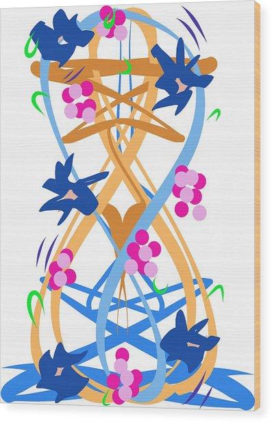 Abstract Garden #3 Wood Print