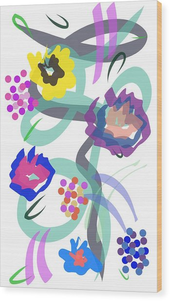 Abstract Garden Nr 4 Wood Print