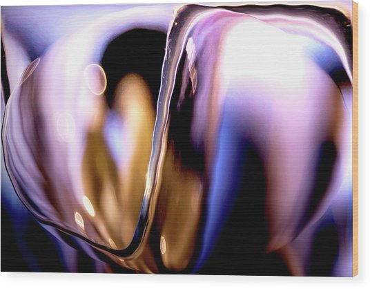 Abstract Glass Wood Print