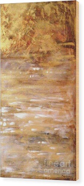 Abstract Golden Sunrise Beach  Wood Print