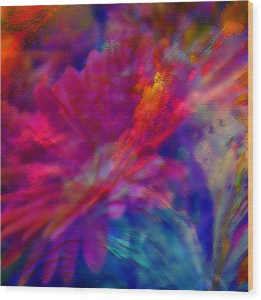 Abstract Gypsy Flower Wood Print