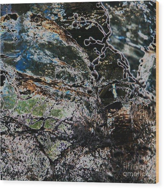 Abstract Wood Print by Hideaki Sakurai