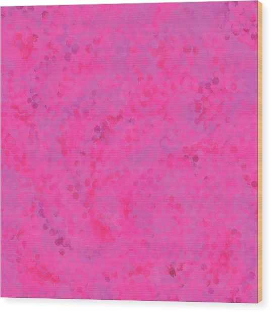 Wood Print featuring the mixed media Abstract Hot Pink And Lilac 4 by Clare Bambers