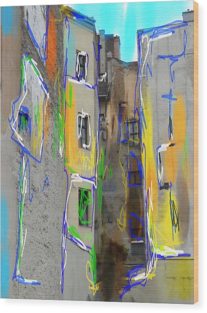 Abstract  Images Of Urban Landscape Series #13 Wood Print