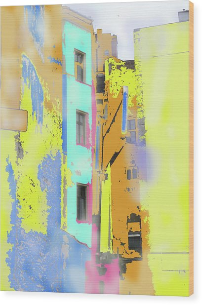 Abstract  Images Of Urban Landscape Series #2 Wood Print