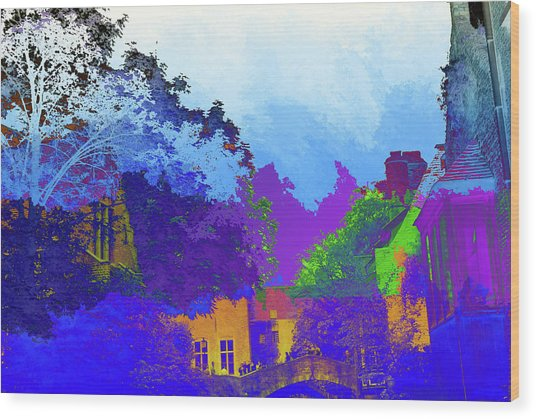 Abstract  Images Of Urban Landscape Series #8 Wood Print