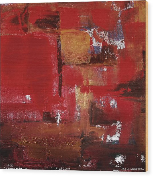 Abstract In Red Wood Print