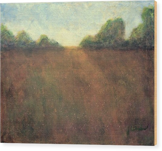 Abstract Landscape #212 - Art By Jim Whalen Wood Print