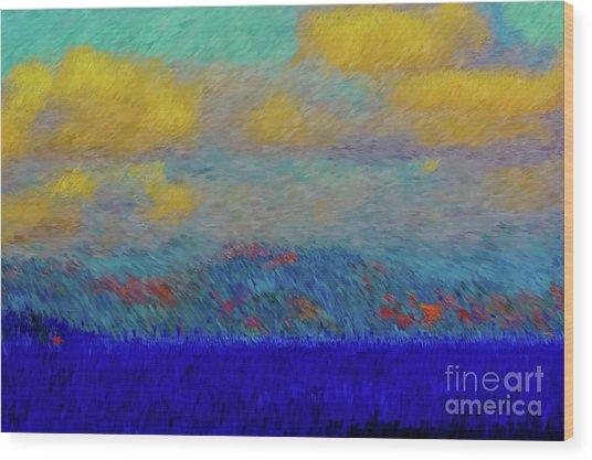 Abstract Landscape Expressions Wood Print