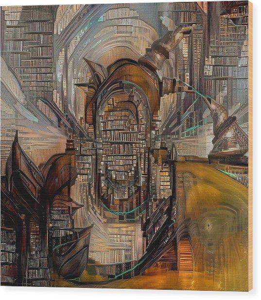 Abstract Liberty Wood Print