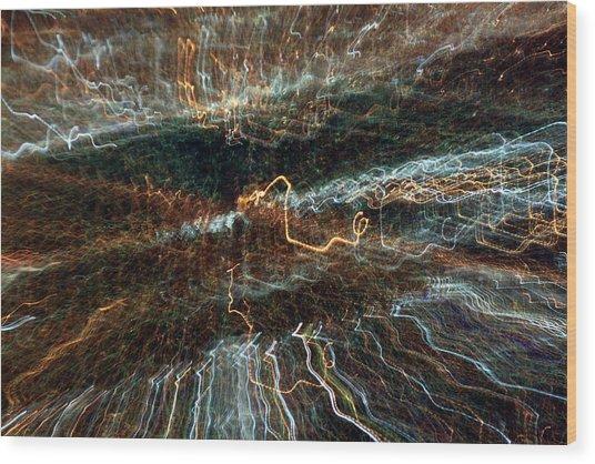 Abstract Lights 1 Wood Print