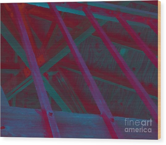 Abstract Line Wood Print by John  Bichler