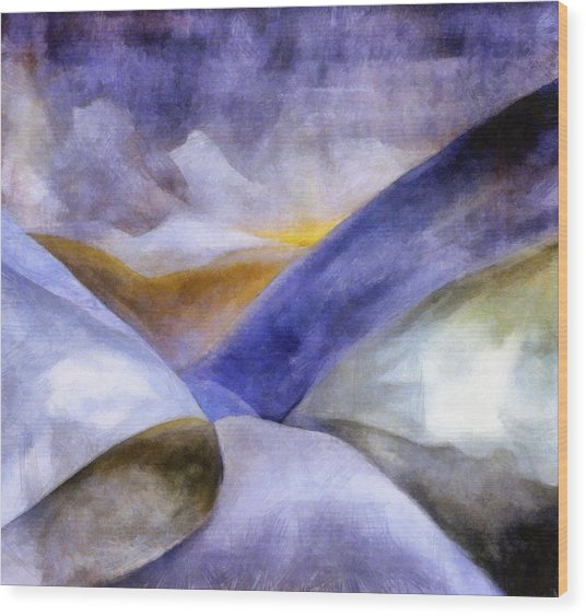 Abstract Mountain Landscape Wood Print