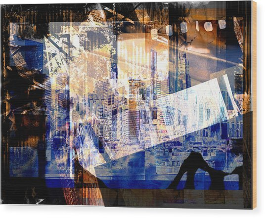 Abstract Movie Wood Print