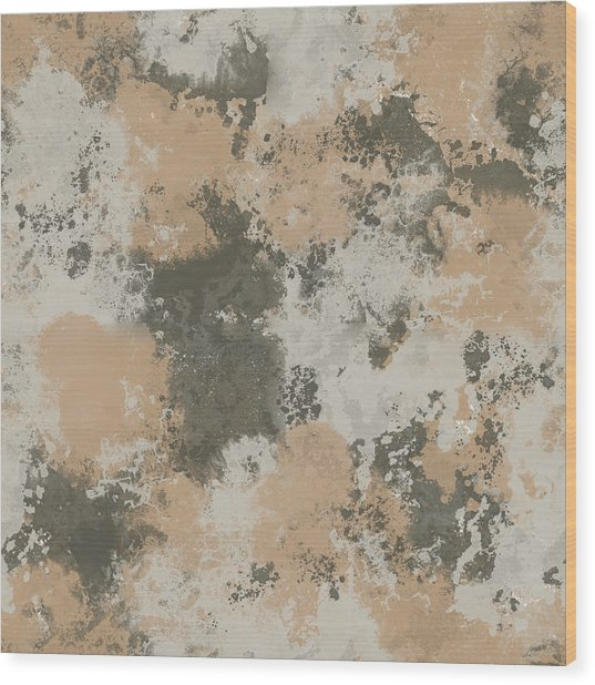 Abstract Mud Puddle Wood Print