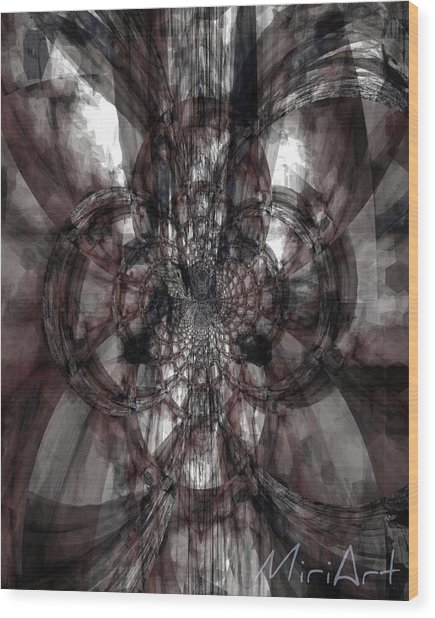 Abstract Neutrals Wood Print