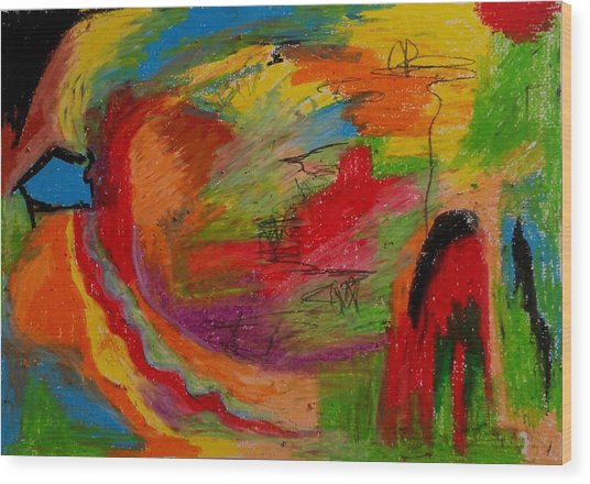 Abstract No. 3 Inner Landscape Wood Print