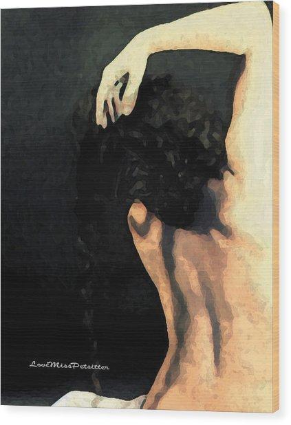 Abstract Nude Art 1 Wood Print
