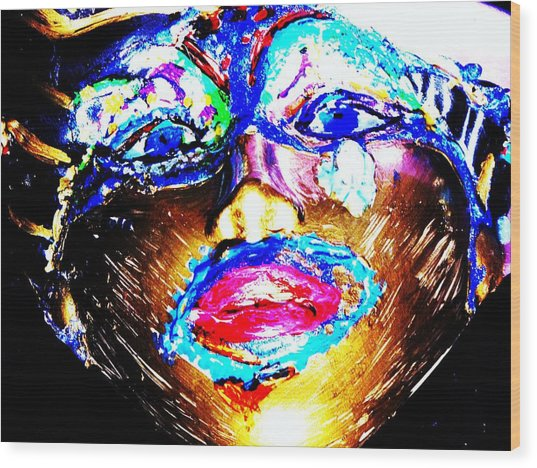 Abstract Of Faces Wood Print by HollyWood Creation By linda zanini