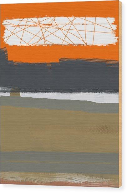 Abstract Orange 1 Wood Print