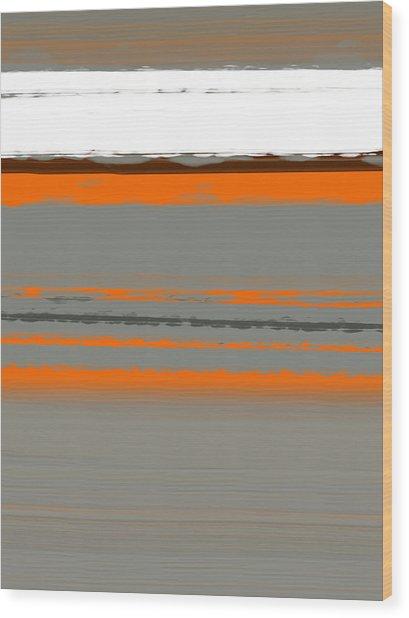 Abstract Orange 2 Wood Print