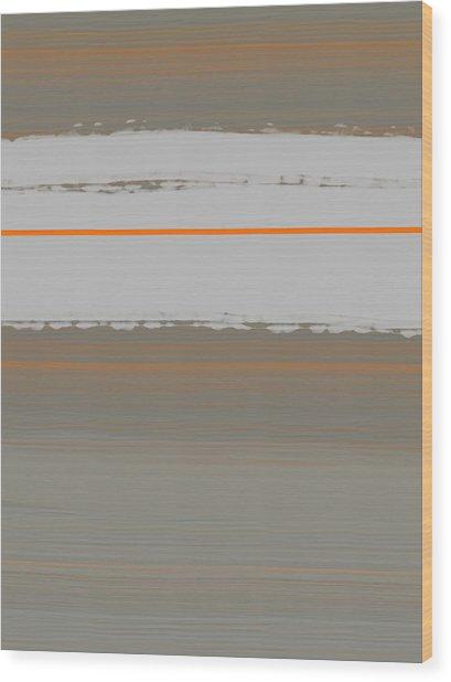 Abstract Orange 4 Wood Print