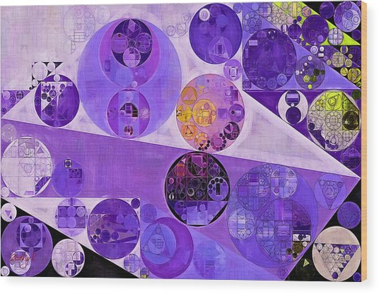 Abstract Painting - Blackcurrant Wood Print