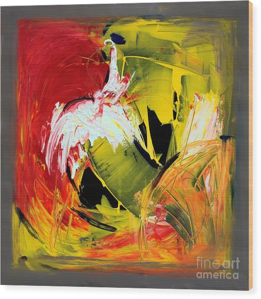 Abstract Painting Wood Print by Mario Zampedroni