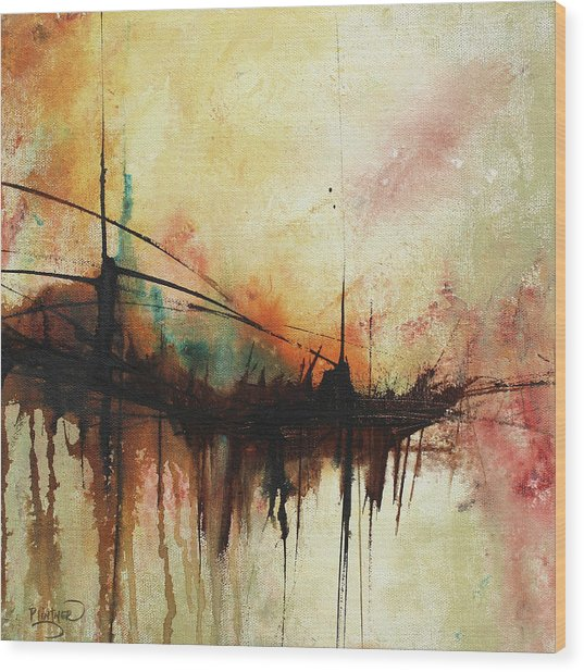 Abstract Painting Contemporary Art Wood Print