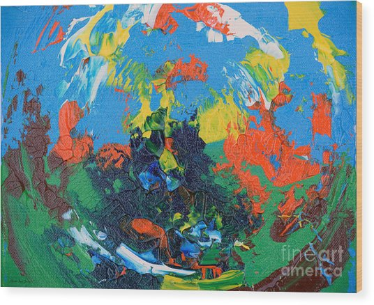 Wood Print featuring the painting Abstract Painting R1115a by Mas Art Studio