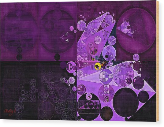 Abstract Painting - Rich Lilac Wood Print