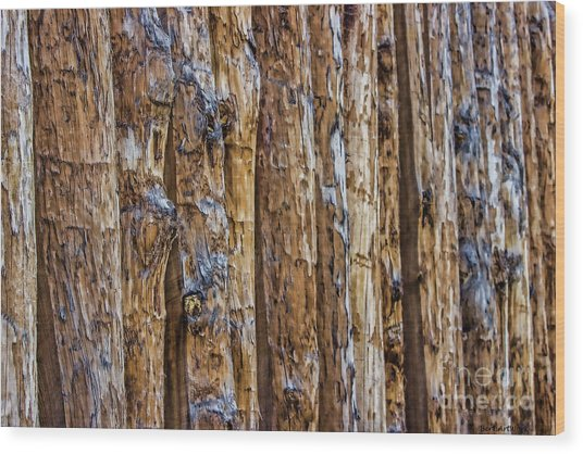 Abstract Posts Wood Print