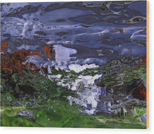 Abstract Rapids Wood Print