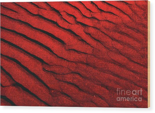 Abstract Red Sand- 2 Wood Print