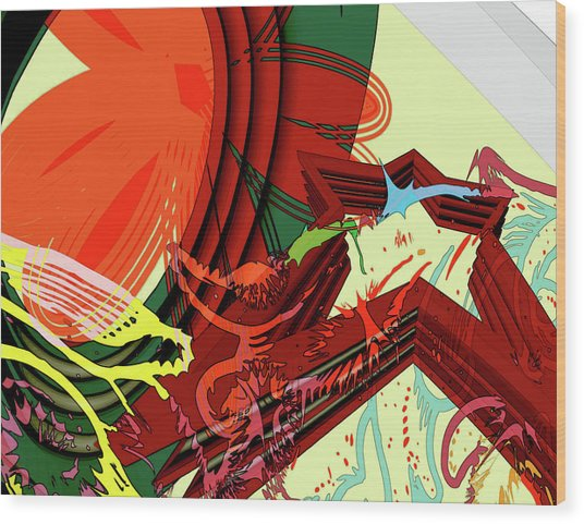 Abstract Rhetoric Wood Print