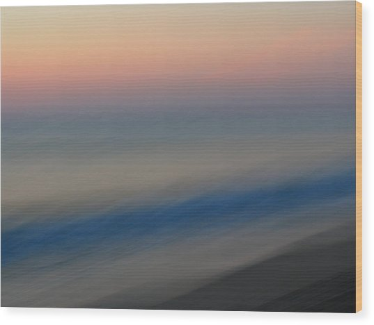 Abstract Seascape 1 Wood Print by Juergen Roth