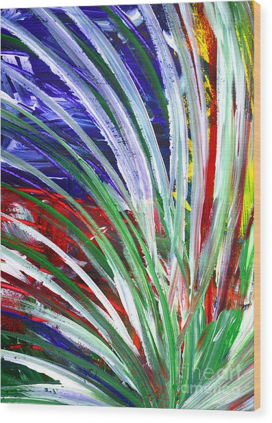 Wood Print featuring the painting Abstract Series C1015bp by Mas Art Studio